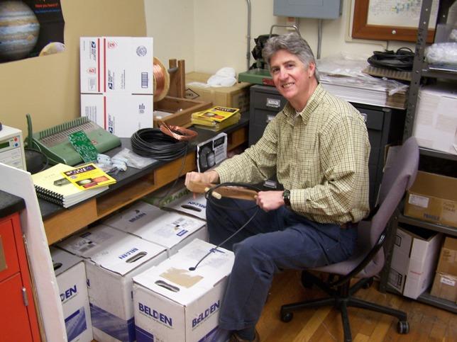 Dr. Higgins preparing kits for shipment